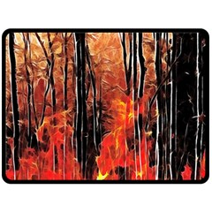 Forest Fire Fractal Background Fleece Blanket (large)