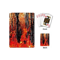 Forest Fire Fractal Background Playing Cards (mini)