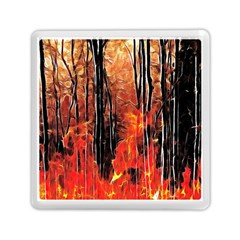 Forest Fire Fractal Background Memory Card Reader (square)