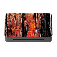 Forest Fire Fractal Background Memory Card Reader with CF