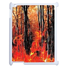 Forest Fire Fractal Background Apple iPad 2 Case (White)