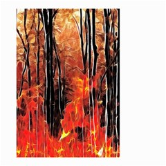 Forest Fire Fractal Background Small Garden Flag (Two Sides)