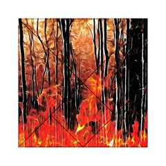 Forest Fire Fractal Background Acrylic Tangram Puzzle (6  x 6 )