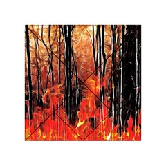 Forest Fire Fractal Background Acrylic Tangram Puzzle (4  x 4 )