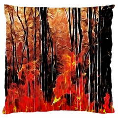 Forest Fire Fractal Background Large Cushion Case (Two Sides)