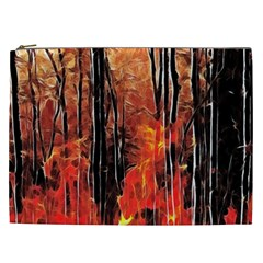 Forest Fire Fractal Background Cosmetic Bag (XXL)