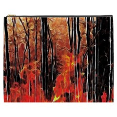 Forest Fire Fractal Background Cosmetic Bag (XXXL)