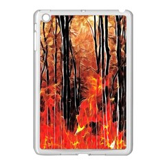 Forest Fire Fractal Background Apple iPad Mini Case (White)