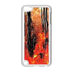 Forest Fire Fractal Background Apple Ipod Touch 5 Case (white)