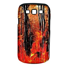 Forest Fire Fractal Background Samsung Galaxy S III Classic Hardshell Case (PC+Silicone)