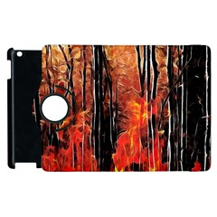 Forest Fire Fractal Background Apple iPad 3/4 Flip 360 Case