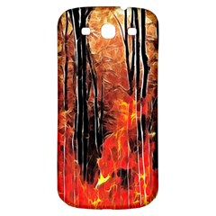 Forest Fire Fractal Background Samsung Galaxy S3 S Iii Classic Hardshell Back Case