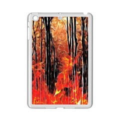 Forest Fire Fractal Background iPad Mini 2 Enamel Coated Cases