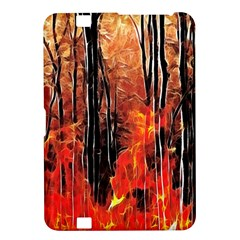 Forest Fire Fractal Background Kindle Fire Hd 8 9