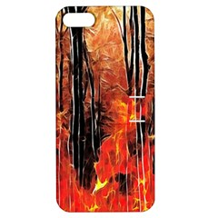 Forest Fire Fractal Background Apple iPhone 5 Hardshell Case with Stand