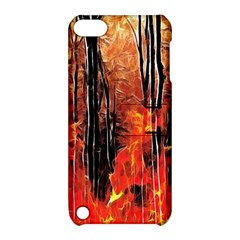 Forest Fire Fractal Background Apple Ipod Touch 5 Hardshell Case With Stand