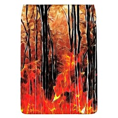 Forest Fire Fractal Background Flap Covers (L)