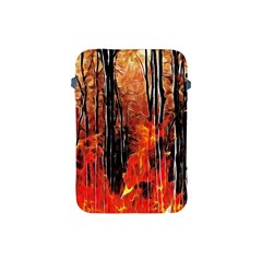Forest Fire Fractal Background Apple iPad Mini Protective Soft Cases