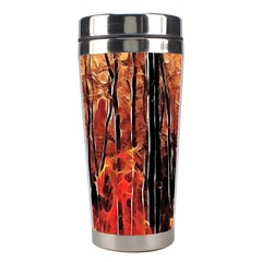 Forest Fire Fractal Background Stainless Steel Travel Tumblers