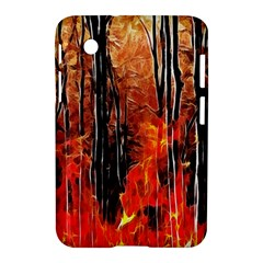 Forest Fire Fractal Background Samsung Galaxy Tab 2 (7 ) P3100 Hardshell Case