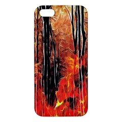 Forest Fire Fractal Background iPhone 5S/ SE Premium Hardshell Case