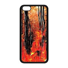 Forest Fire Fractal Background Apple iPhone 5C Seamless Case (Black)