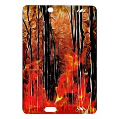 Forest Fire Fractal Background Amazon Kindle Fire Hd (2013) Hardshell Case
