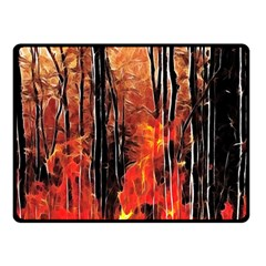 Forest Fire Fractal Background Double Sided Fleece Blanket (small)