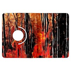 Forest Fire Fractal Background Kindle Fire HDX Flip 360 Case