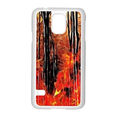 Forest Fire Fractal Background Samsung Galaxy S5 Case (White)