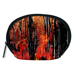 Forest Fire Fractal Background Accessory Pouches (medium)