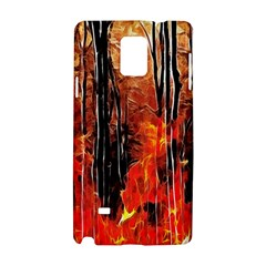 Forest Fire Fractal Background Samsung Galaxy Note 4 Hardshell Case