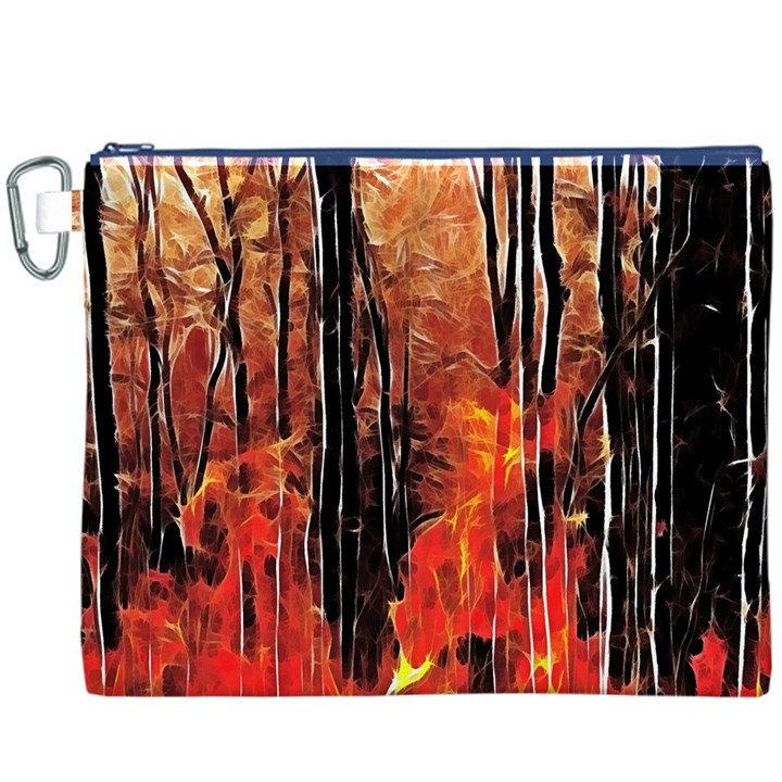 Forest Fire Fractal Background Canvas Cosmetic Bag (XXXL)