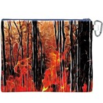 Forest Fire Fractal Background Canvas Cosmetic Bag (XXXL) Back