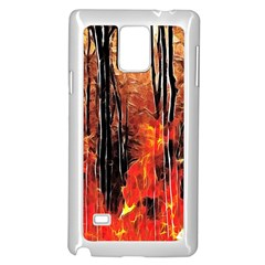 Forest Fire Fractal Background Samsung Galaxy Note 4 Case (white)