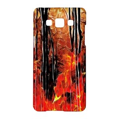 Forest Fire Fractal Background Samsung Galaxy A5 Hardshell Case