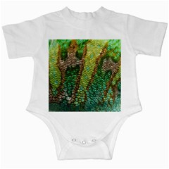 Colorful Chameleon Skin Texture Infant Creepers