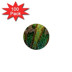 Colorful Chameleon Skin Texture 1  Mini Buttons (100 Pack)