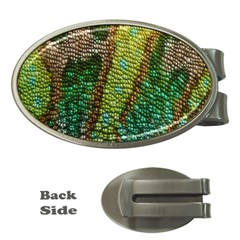 Colorful Chameleon Skin Texture Money Clips (oval)