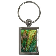 Colorful Chameleon Skin Texture Key Chains (rectangle)