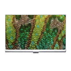 Colorful Chameleon Skin Texture Business Card Holders