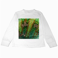 Colorful Chameleon Skin Texture Kids Long Sleeve T Shirts