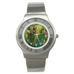Colorful Chameleon Skin Texture Stainless Steel Watch