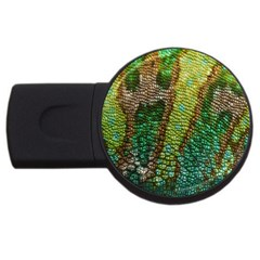 Colorful Chameleon Skin Texture Usb Flash Drive Round (4 Gb)