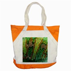 Colorful Chameleon Skin Texture Accent Tote Bag