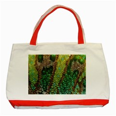 Colorful Chameleon Skin Texture Classic Tote Bag (Red)