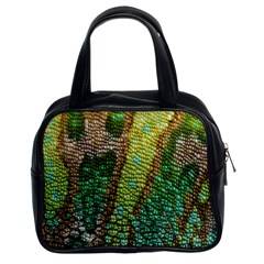 Colorful Chameleon Skin Texture Classic Handbags (2 Sides)