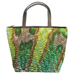 Colorful Chameleon Skin Texture Bucket Bags