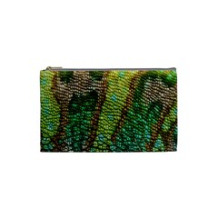 Colorful Chameleon Skin Texture Cosmetic Bag (small)