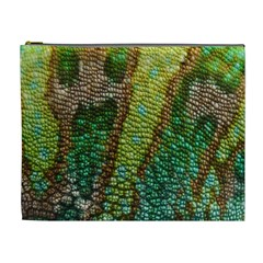 Colorful Chameleon Skin Texture Cosmetic Bag (xl)
